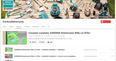 Gardena R40Li Installatie