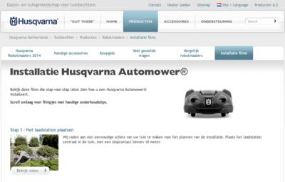 Husqvarna Automower Installatie