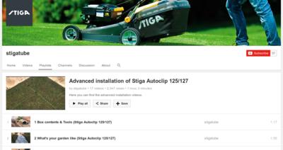 Stiga Autoclip Installatie